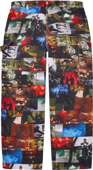 Supreme Dmx Multicolor Photograph Collage Jeans