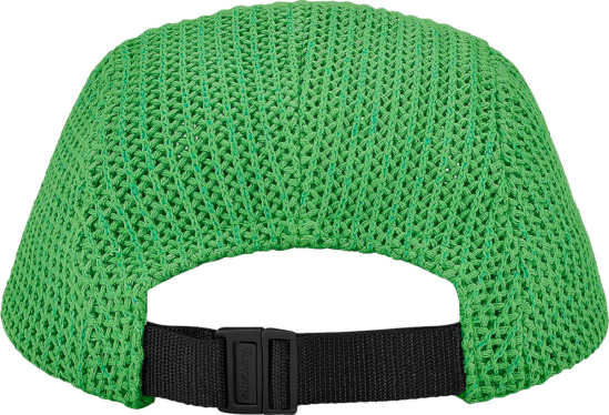 Supreme Green Crocheted Camp Hat