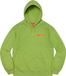 Supreme Green Love Graffiti Hoodie