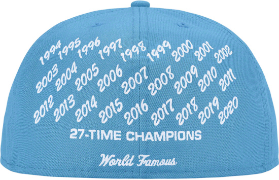 Supreme Light Blue Champtions Embroidered Fitted Hat