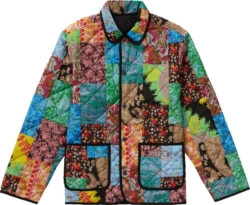 Supreme Multicolor Quilted Patch Jacket