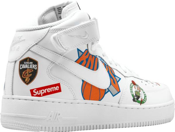 Supreme Nba Logo Print Sneakers