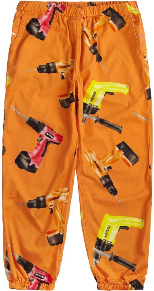 Supreme Orange Drill Pants