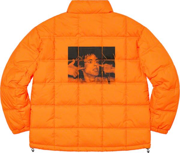 Supreme Orange Iggy Popp Puffer Padded Jacket