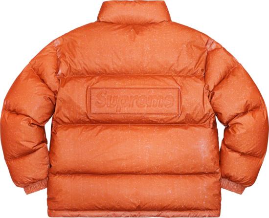 Supreme Orange Speckled Puffer Jacket