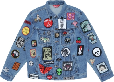 Supreme Patches Blue Denim Jacket