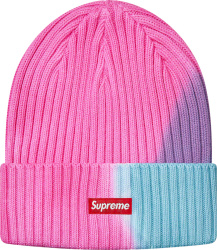 Supreme Pink And Light Blue Overdyed Beanie