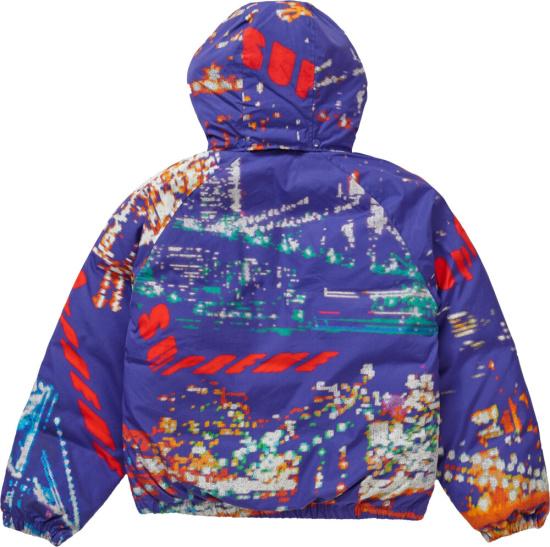 Supreme Purple City Light Puffer Jacket