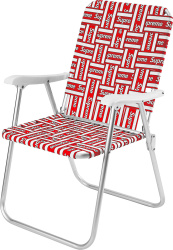 Supreme Red And White Box Logo Lawn Chair