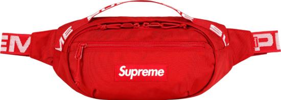 Supreme Red Belt Bag Ss18