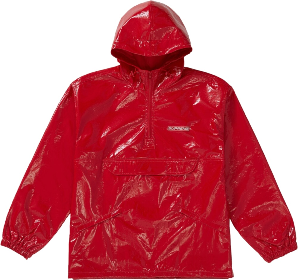Supreme Red Crinkle Anorak Jacket
