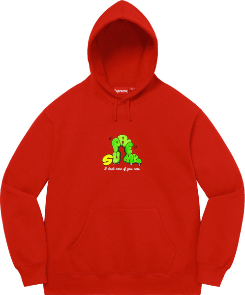 Supreme Red Dont Care Hoodie