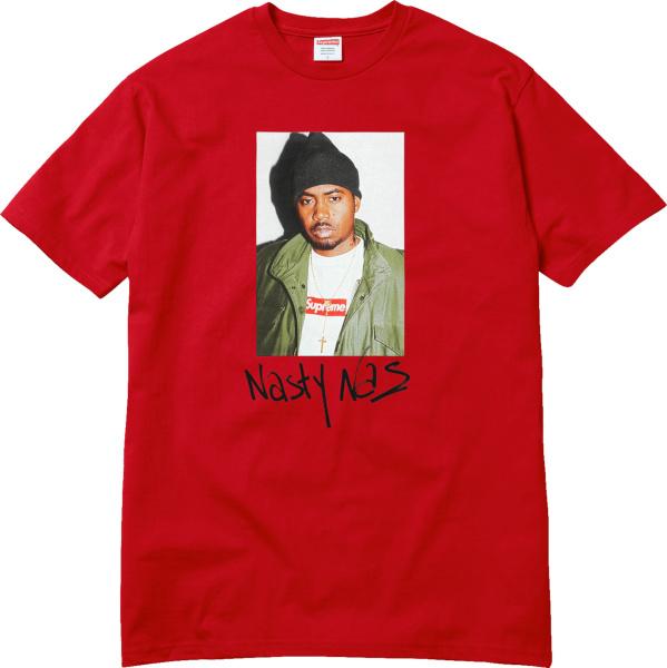 Supreme Red Nas Print T Shirt