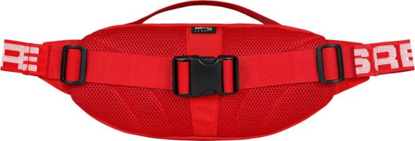 Supreme Red Waist Bag Logo Stripe