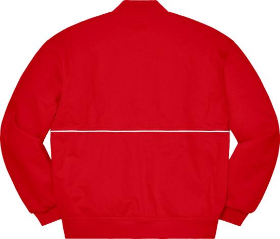 Supreme Red Wide Logo Bomber Jacket