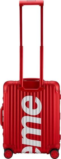 Supreme Rimowa Red Hard Sided Luggage
