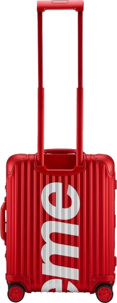 Supreme Rimowa Red Hard Sided Luggage