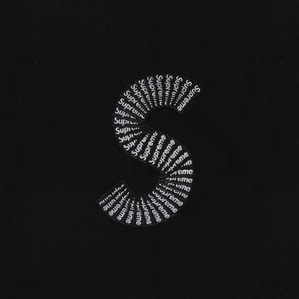 Supreme S Logo Black Sweatshirt