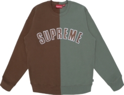 Supreme Split Brown Green Sweatshirt
