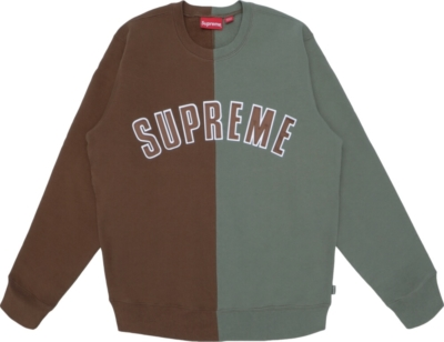 Supreme Split Brown Green Sweatshirt
