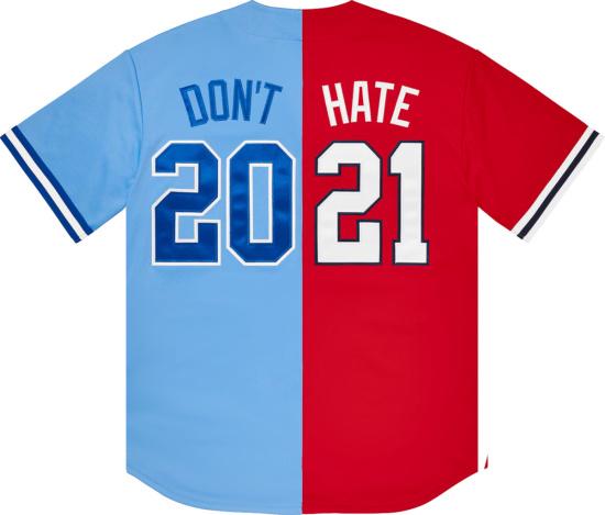 Supreme Split Dont Hate Baseball Jersey