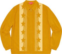 Supreme Star Jacquard Yellow Zip Cardigan
