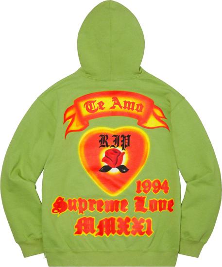 Supreme Te Amo Graffiti Hoodie