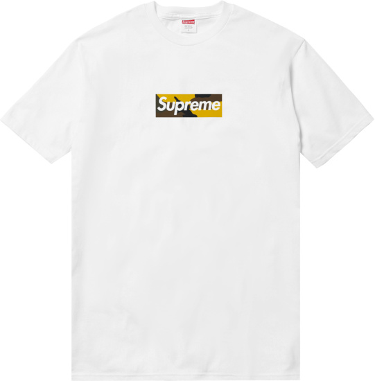 Supreme White Brooklyn Camo Box Logo T Shirt