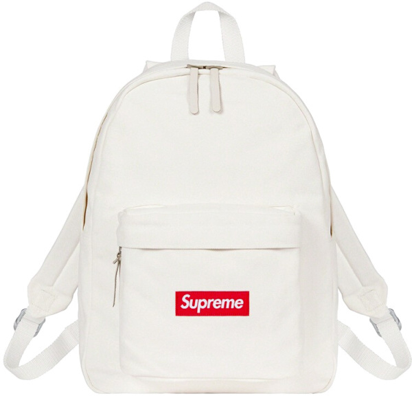 Supreme White Canvas Backpack