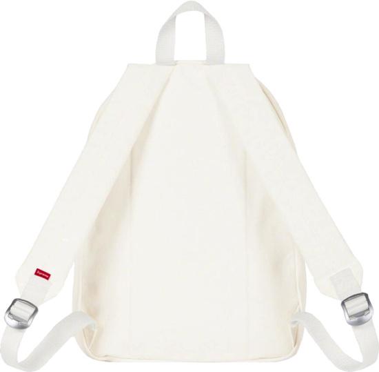 Supreme White Canvas Box Logo Backpack