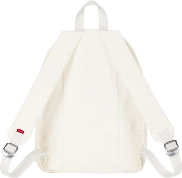 Supreme White Canvas Box Logo Backpack