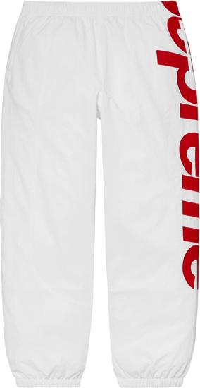 Supreme White Spellout Sweatpants