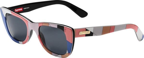 Supreme X Emilio Pucci Pink Colorblock Pastel Cat Eye Sunglasses