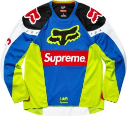 Supreme X Fox Racing Neon Blue Racing Moto Jersey