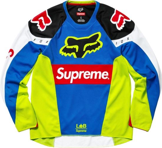 Supreme X Fox Racing Neon Blue Racing Moto Jersey