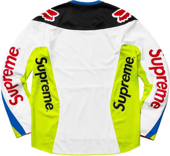 Supreme X Fox Racing Neon Multicolor Motocross Jersey