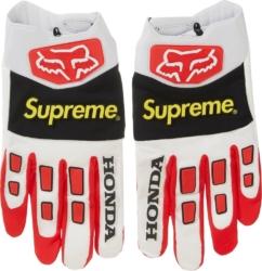 Supreme X Fox White Racing Gloves