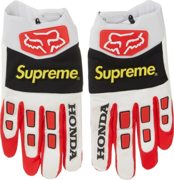 Supreme X Fox White Racing Gloves
