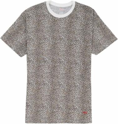 Supreme X Hanes Leopard Print T Shirt