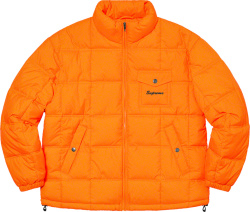 Supreme X Iggy Popp Orange Puffer Jacket