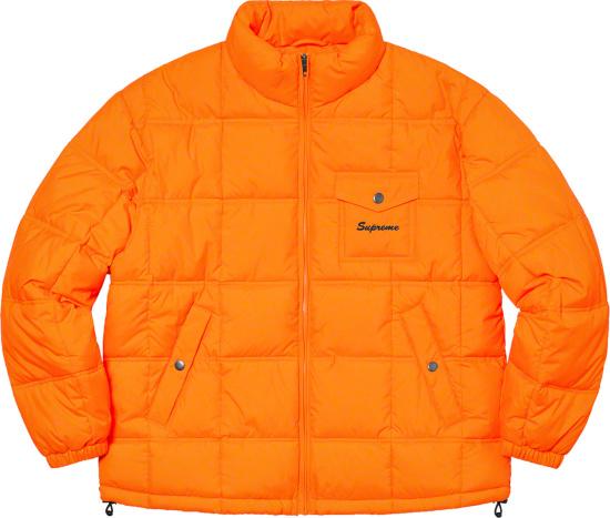 Supreme X Iggy Popp Orange Puffer Jacket