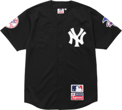 Supreme X Majestic Black New York Yankees Jersey
