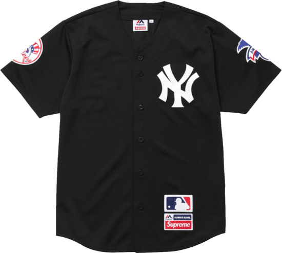 Supreme X Majestic Black New York Yankees Jersey