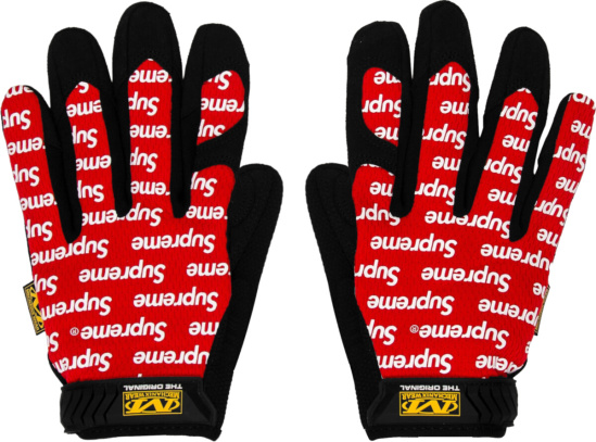 Supreme X Mechanix Red Gloves
