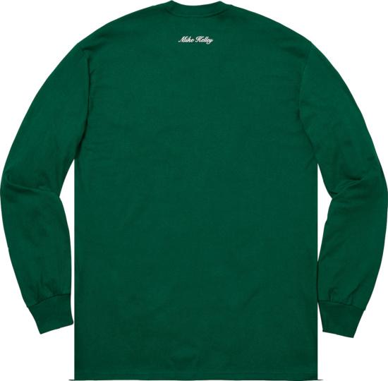 Supreme X Mike Kelley Green Stuffed Animal T Shirt