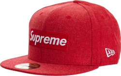 Supreme x New Era Red 'World Famous' 59FIFTY
