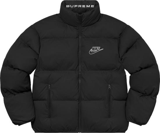 Supreme X Nike Ss21 Black Puffy Jacket