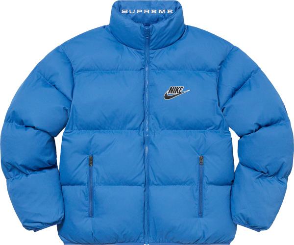 Supreme X Nike Ss21 Blue Puffy Jacket