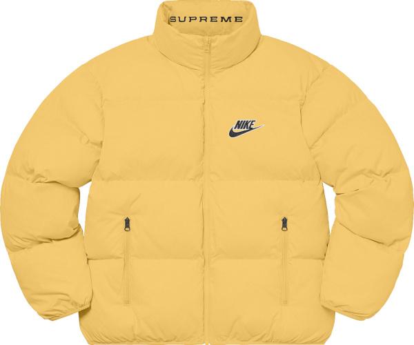 Supreme X Nike Ss21 Yellow Puffy Jacket