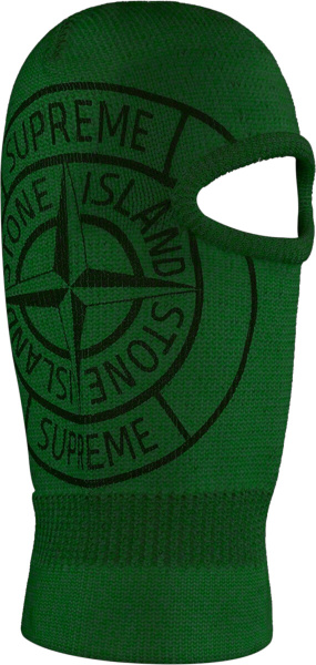 Supreme X Stone Island Glow In The Dark Balaclava